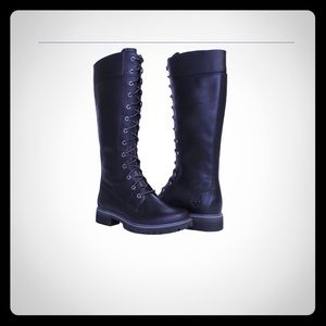 Timberland water-proof lace up black boots